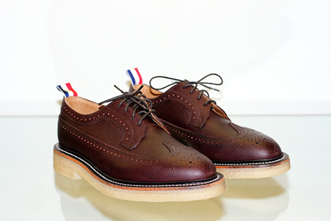 Thom Browne Wingtip Brogue with Crepe Sole | Clothes Before Hoes