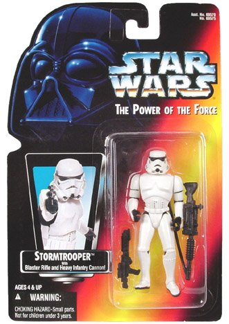 Amazon.com: Star Wars Power of the Force Red Card - Stormtrooper Action Figure: Toys & Games