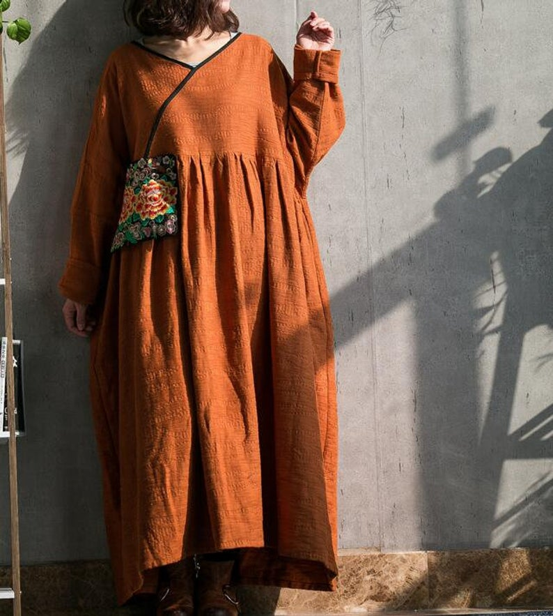 Caramel colour long dress women maxi dress oversized dress | Etsy