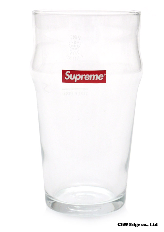 【楽天市場】SUPREME PINT GLASS [グラス] CLEAR 290-002621-010x【新品】:Cliff Edge