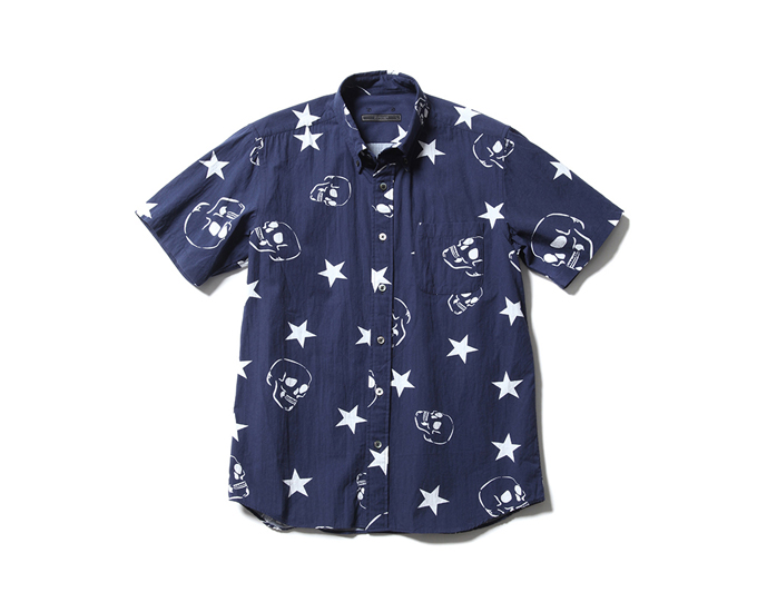 SOPHNET. | PRODUCT | S/S SKULL STAR COTTON RAYON B.D SHIRT