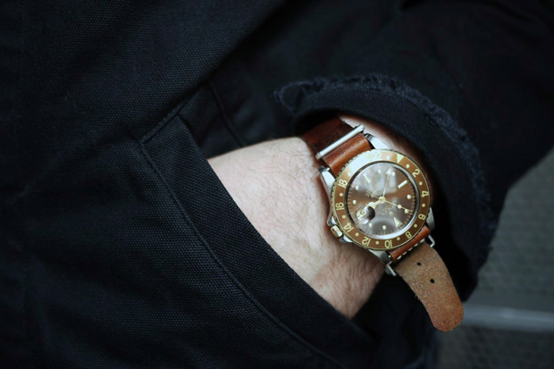 TIFFANY & Co. Brown Bezel/Dial Yellow Gold GMT FOURTANÉ