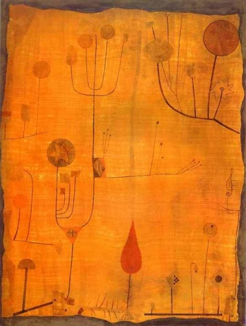 Fruits on Red - Klee, Paul - Blaue Reiter - Watercolour - Abstract - TerminArtors