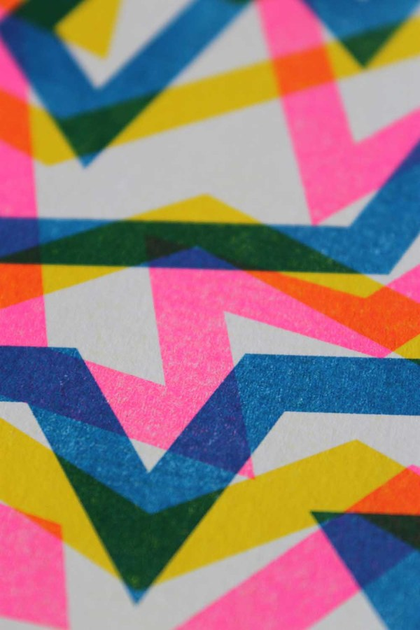 Patterned Risograph Prints on Behance