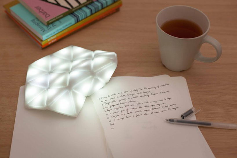 kangaroo light by studio banana things folds to fit at the bottom of a bag