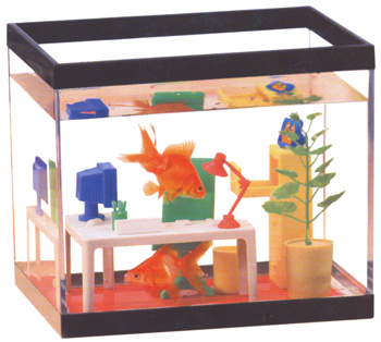Make Your Fish Work with the Computer Office Fish Tank - bLavish