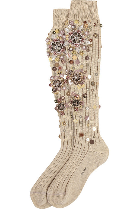 Miu Miu bejewelled socks (Vogue.com UK)