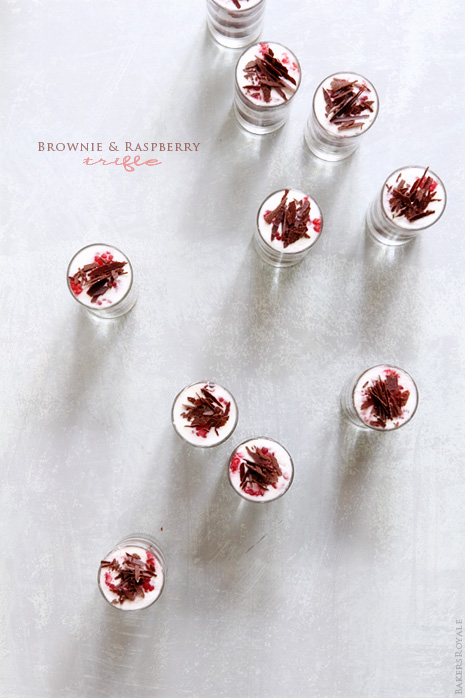 Brownie and Raspberry Trifle | Bakers Royale