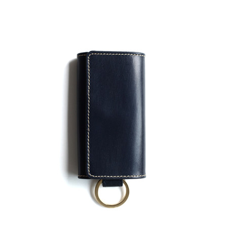S9692 KEY CASE with RING/Navy
