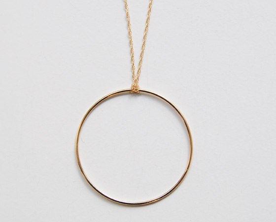 ginette NYy:big ring necklace- CUL DE PARIS online store