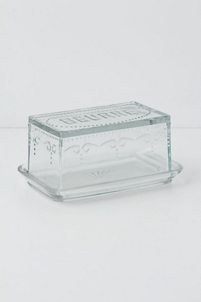 Etched Glass Butter Dish - Anthropologie.com