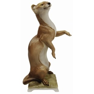 TableArt :: Decorative :: Figural :: Nymphenburg :: Wild Animals (Exotic and Domestic) :: Painted :: Weasel (Standing)