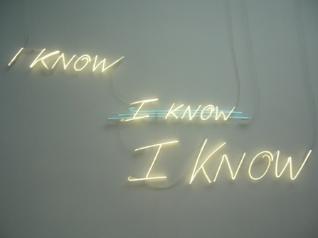 Tracey Emin Iknow I know I know | Pilipon Studio Journal