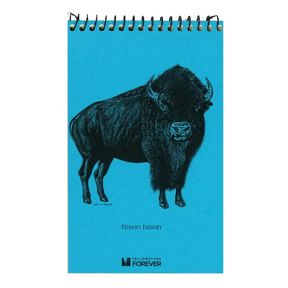Bison Explorer Notepad - Yellowstone Forever - Collectables