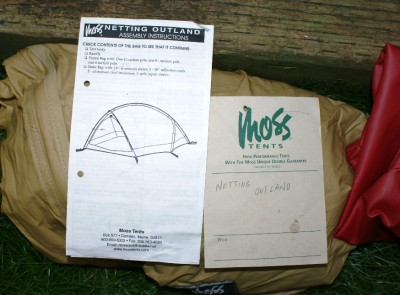Moss Netting Outland Tent RARE 4 lbs Made in USA | eBay
