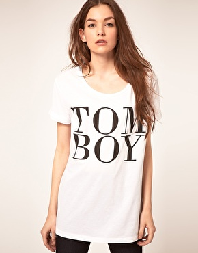 Just Female | Just Female 'Tom Boy' T-Shirt at ASOS