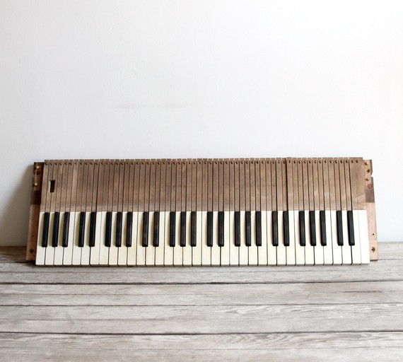 antique late 1800s wooden organ keyboard ($100-200) - Svpply