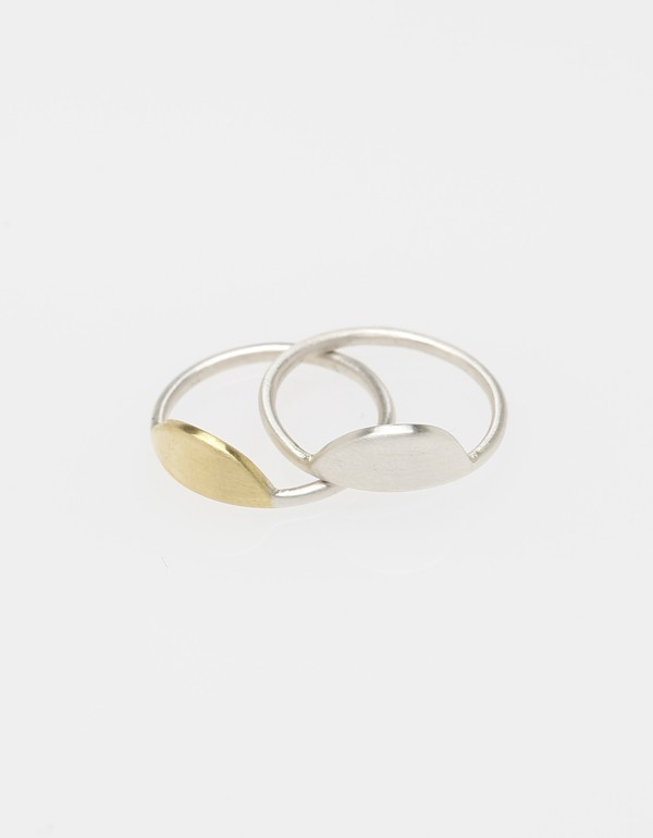Sun and Moon Ring Set