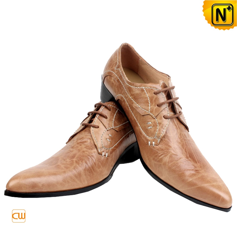 Mens Leather Lace Up Oxford Dress Shoes CW760071 | CWMALLS