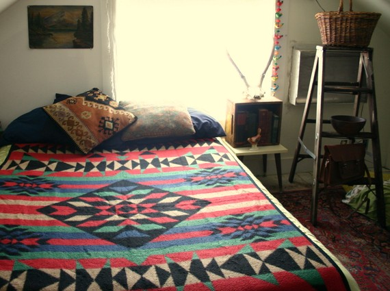 Vintage Pendleton Style Fleece Blanket by CaptainCat on Etsy