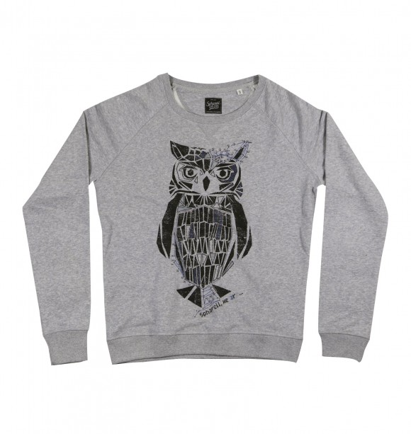 Printed grey crewneck for men - Hibou - SPHARELL WE ARE | Purchase it at GRAFITEE
