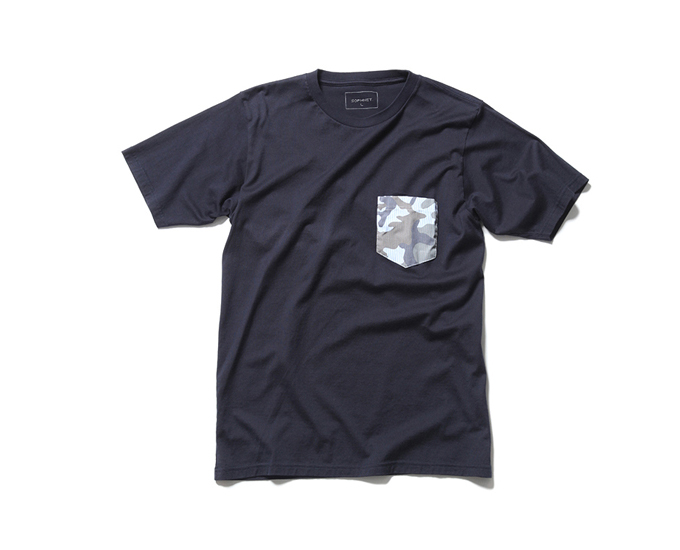 SOPHNET. | PRODUCT | FABRIC MIX POCKET TEE