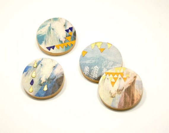 Mountains brooch RESERVED for FancifulDelight by nomoi on Etsy