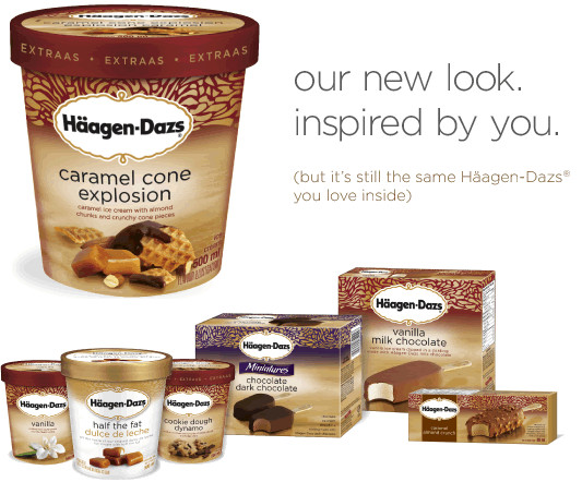 Haagen-Dazs : our new look. inspired by you.