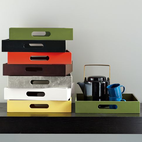Small Rectangle Lacquer Trays | west elm