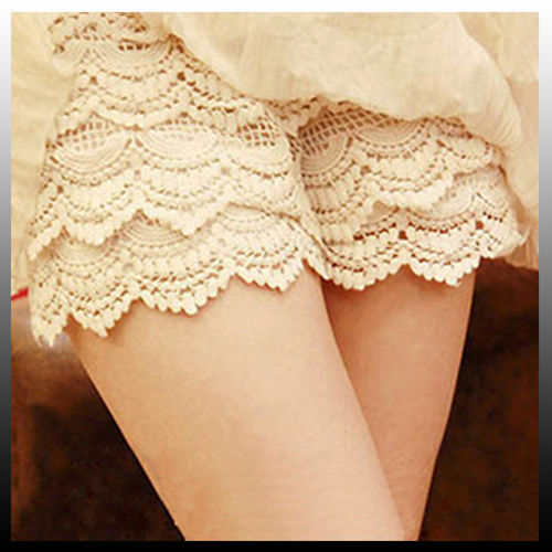 [grhmf2600034]Sexy Fashion Safety Pants Shorts Mini Lace Tiered Short Skirt