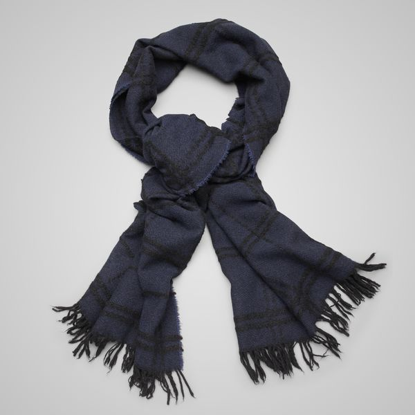 Midnight Blue Black Cashmere Scarf