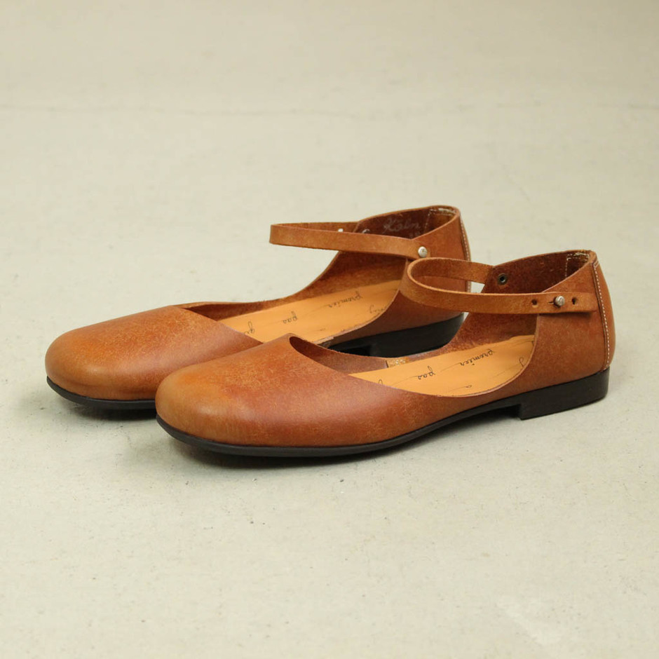SHOE&SEWN - Koln #cognac/rubber sole