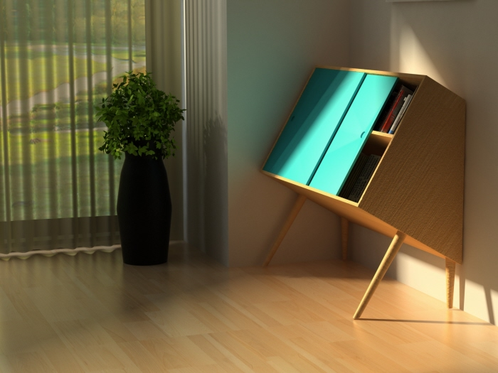 Chin up storage furniture by Lisa Sandall at Coroflot