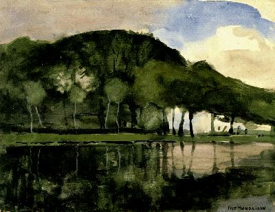 Along the Amstel - Piet Mondrian - WikiPaintings.org