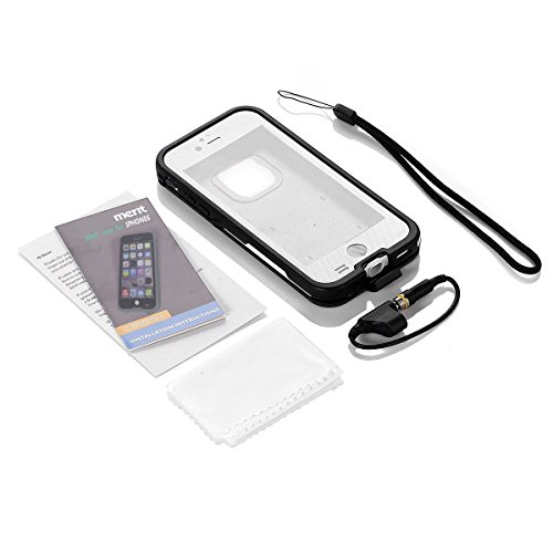 Amazon.com: Merit iPhone 6 Waterproof Case [New Version] IP68 Standard Waterproof Snowproof Dirtpoof Shock-Resistant Protective Case Cover for iPhone 6 4.7 inch (White): Cell Phones & Accessories