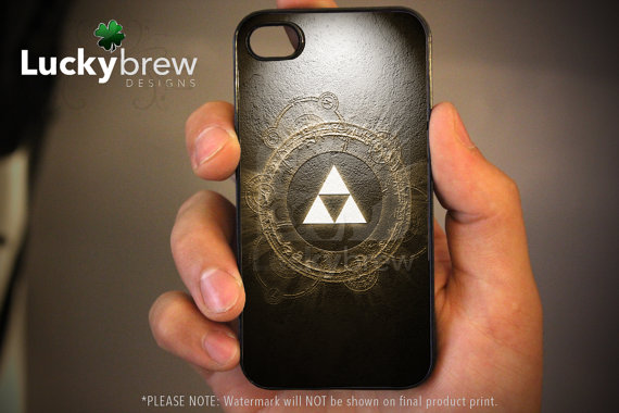 Zelda iPhone 4 4s Hard Case Legend of Zelda by LuckybrewDesigns