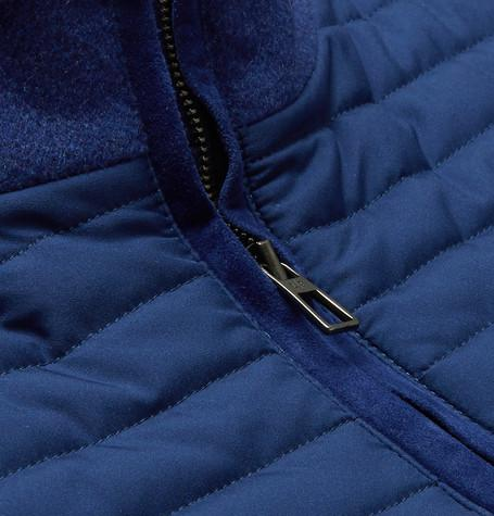 Loro Piana - Slim-Fit Quilted Storm System® Shell and Cashmere-Blend Gilet