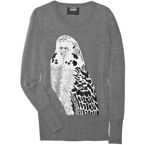 Markus Lupfer Sequined Budgie Merino-Wool Sweater - Polyvore