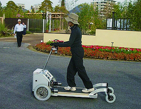 Tread-Walk is useful personal mobility vehicle for elderly and disabled