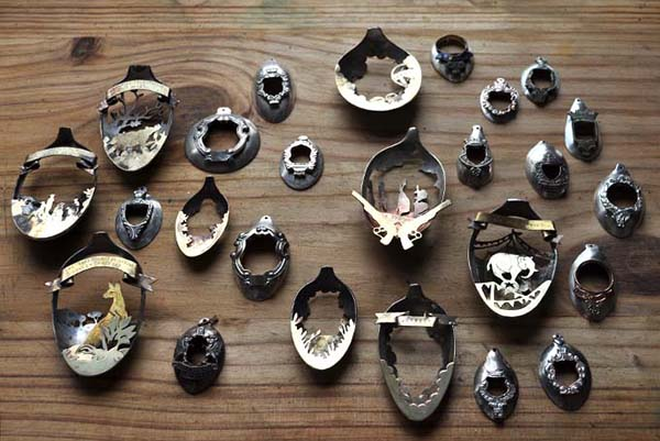 COOL JEWELRY MADE FROM ANTIQUE SPOONS - WHOA