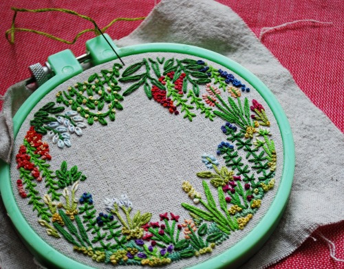 flowers in the bloom brain - fuckyeahembroidery: by misslilamae a tiny...