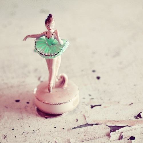 Ballerina 5x5 Fine Art Photograph Girls room by alicebgardens