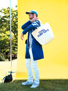 LOVE online store|MEN CHILL SURF CITY Tote Bag