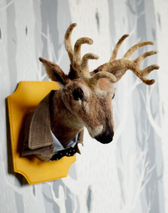 Needle Felted Dear Taxidermy by Stacie013 on Etsy