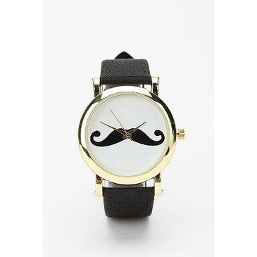 UrbanOutfitters.com > Mustache Watch from urbanoutfitters.com | FASHIOLISTA | love your style!