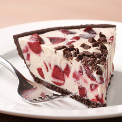 Cherry Ice Cream Pie with Chocolate Cookie Crust Recipe - Delish.com