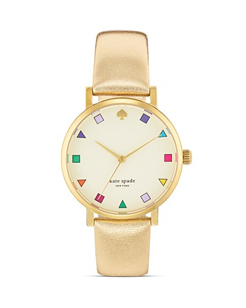 kate spade new york Gold Patchwork Metro Watch, 34mm | Bloomingdale's