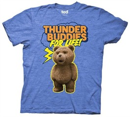 Ted T-shirt Movie Ted Thunder Buddies for Life Adult Royal Heather Tee