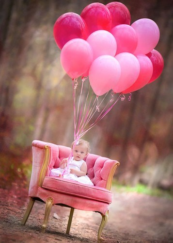 baby, balloon, photography, pink - inspiring picture on Favim.com
