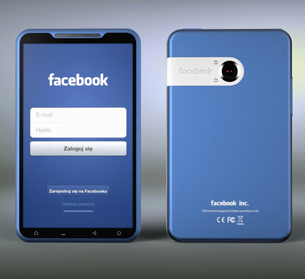 Bluephone Facebook Phone Concept by Michal Bonikowski » Yanko Design